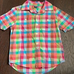 BabyGAP Colorful Plaid Button Down